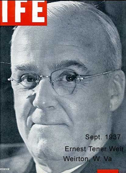 Life Magazine Cover with Ernest Tener Weir