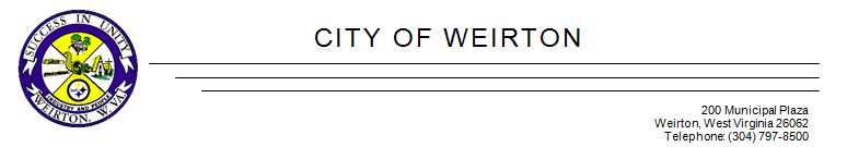 City of Weirton letterhead